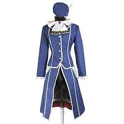 本気コス 愛宕 艦隊これくしょん コスプレ 衣装 8点セット ( ジャケット + ブラウス + スカート + リボン + 首巻 + 帽子 + 手袋 + Tバック ) c285