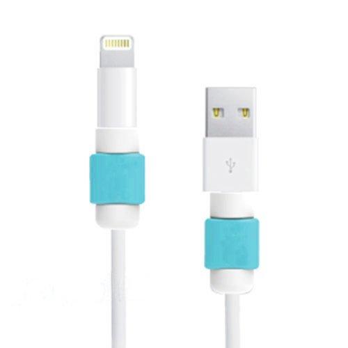 Generic 2つの小品 充電ケーブルプロテクター 保護 断線防止 アップル製品ケーブル用 iphone 5、5、6、6プラス (ブルー)