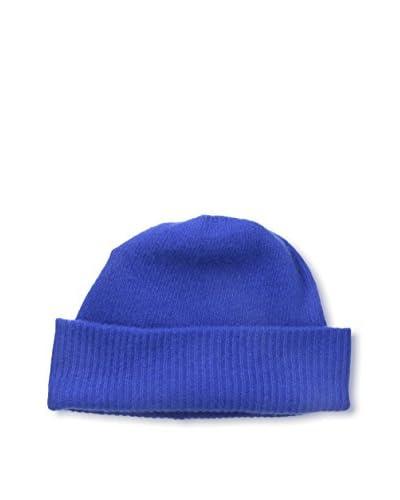 Portolano Men's Cashmere Beanie, Blue Bell
