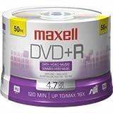 Maxell 275640.40.CN - 50PK 4.7GB 16X DVD+R Spindle