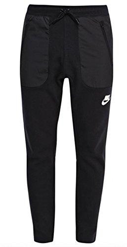 Nike Men's Sportswear Cuff Sweatpants (SMALL, Black/Black/White)