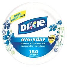"""Dixie, Everyday Paper Plates, 10.5"""", 150 Count, Sturdy and D"""