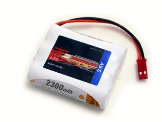 Tenergy 3.6V 2000mAh Side-by-Side Ready to Use NiMH Battery Packs w/ BEC Connector for RC airplanes, Walking robot etc.