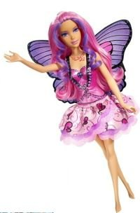 Barbie DVD Series Mariposa 12 Inch Butterfly Fairy Doll - Rayna with Color Change Wings, Reversible Skirt and Hairbrush
