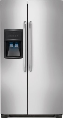 Frigidaire FFHS2322MS, Side by Side , 22.6 Cubic Ft Refrigerator, Stainless Steel
