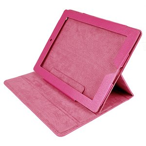 ATC Smart Cover with Synthetic PU Leather and Soft fiber interior lining for Apple iPad 2 (Rose)