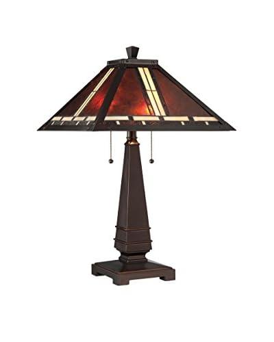 Lite Source Crimson 2-Light Table Lamp, Dark Bronze With Mica