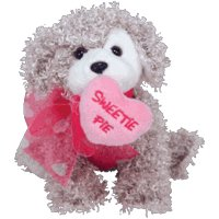 31xZjx0tMTL Ty Beanie Babies Snookums the Dog Valentines Day