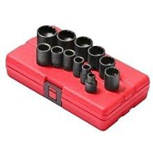 "Sunex 3674 12 Piece 3/8"" Standard Drive SAE Impact Socket Set"