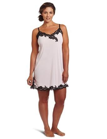 Natori Women's Plus-Size Adore Chemise Nightgown, Blush Pink/Black, 1X