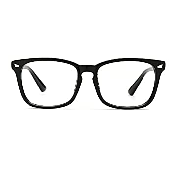TIJN Unisex Wayfarer Non-prescription Glasses Frame Clear Lens Eyeglasses
