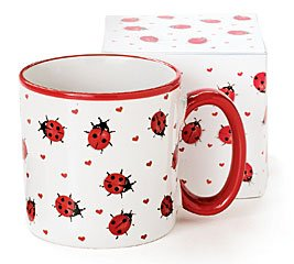 Adorable Ladybug Coffee Mug Inexpensive Gift Item: Kitchen & Dining