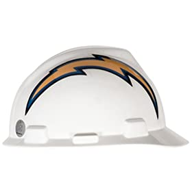 San Diego Chargers Hard Hat by Mine Safety Appliances