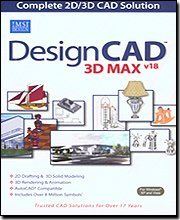 Designcad 3D Max Version 18 2D & 3D Cad Solution [Old Version]