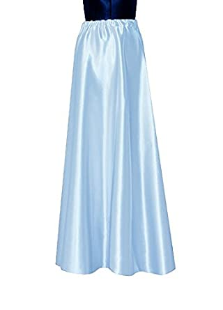 e k s satin maxi skirt formal evening flowing