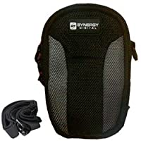 Canon PowerShot SX160 Digital Camera Case Point & Shoot Digital Camera Case, Black / Grey - Replacement