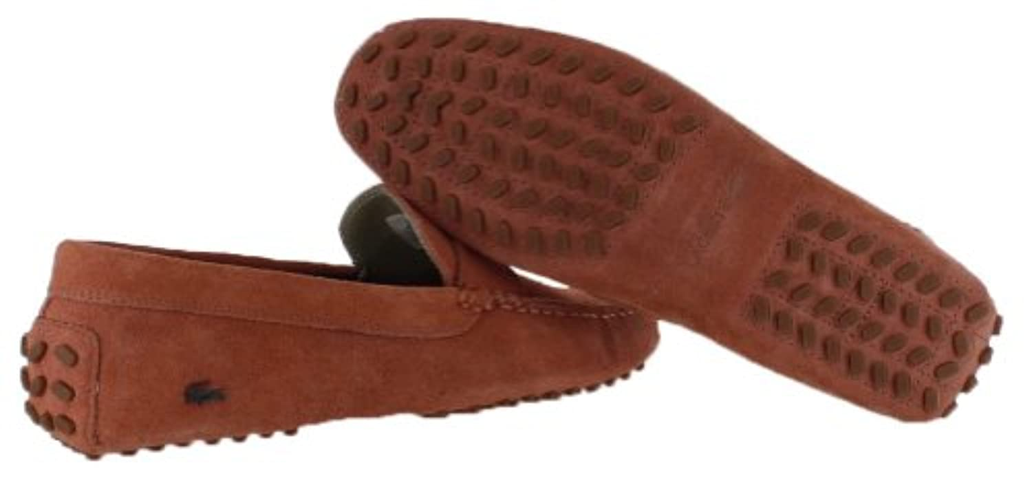 0c09eec2dbef ... Lacoste Concours 13 Men s Driving Moccasins Shoes Suede Red Size 11