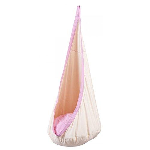 seasofbeauty-hamac-bascule-dans-coton-naturel-avec-support-balancoire-balancelle-enfant-rose-clair