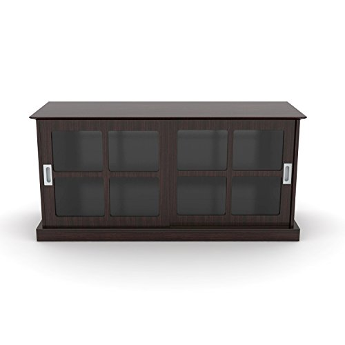 Atlantic 94835829 Windowpane Tv Stand In Espresso