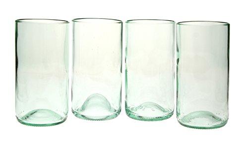 4 Pack Tumbler Glasses (16 Oz) Clear