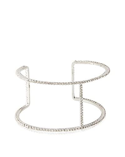 Chloe by Liv Oliver Double Row Crystal Cuff Bracelet As You See