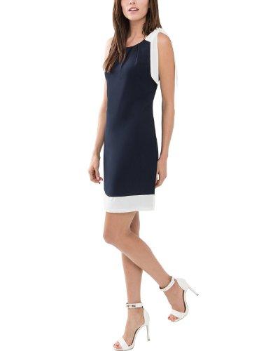 Comma Damen Kleid, Mini, Gr. 40 (Herstellergröße: 40), Blau