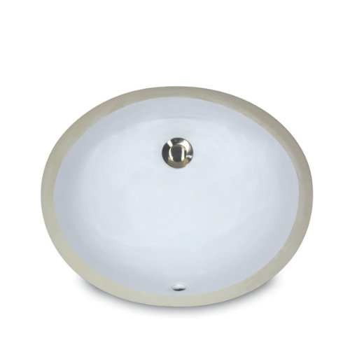 Buy Cheap Nantucket Sinks UM-13x10-W 13-Inch  by 10-Inch  Oval Ceramic Undermount Vanity Sink, White