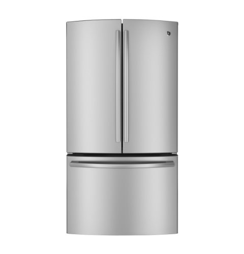 GE GNE26GSDSS 26.3 Cu. Ft. Stainless Steel French Door Refrigerator - Energy Star (Refrigerator French Door Ge compare prices)