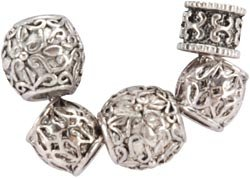 Jesse James Uptown Bead Collection, 5/Pkg: Metal Style #3