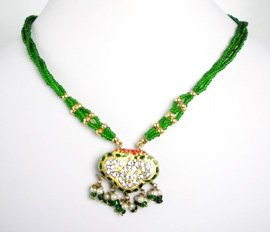 Indian Necklace Set (Green)