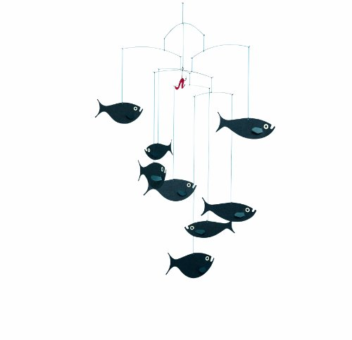 Flensted Mobiles Nursery Mobiles, Shoal of Fish - 1
