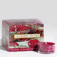 Yankee Candle 12 Scented Tealights - Cranberry Chutney
