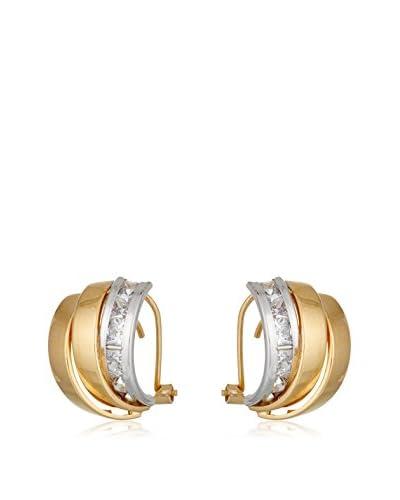 Gold & Diamonds Pendientes oro bicolor 18 ct