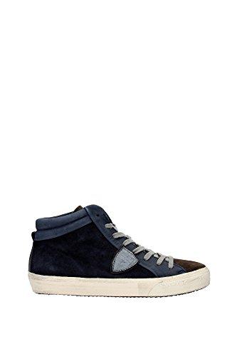 Sneakers Philippe Model Uomo Camoscio Blu, Marrone e Argento MDHUXS03 Blu 43EU