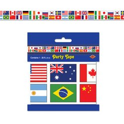 International Flag Party Tape Party Accessory (1 count) (1/Pkg)