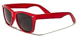 Kids Childrens 80\'s Classic Vintage Retro Wayfarer Style Sunglasses - (Red)
