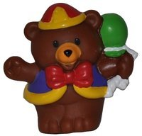 Little People Circus Bear Carnival (2003) - Replacement Figure Accessory - Classic Fisher Price Collectible Figures - Loose Out Of Package & Print (OOP) - Zoo Circus Ark Pet Castle - 1