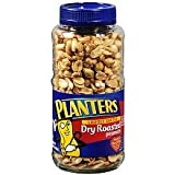 Planters Peanuts, Dry Roasted, Lightly Salted, 16 Ounce Jars (Pack of 2)