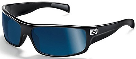Bolle Marine Piranha Sunglasses (Shiny Black, Polarized Offshore Blue)