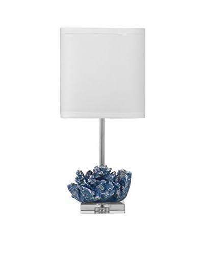 Bassett Mirror Co. Pacificia 1-Light Table Lamp, Blue/Silver