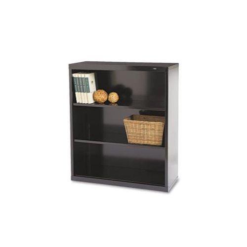 Tennsco B42BK Metal Bookcase 3 Shelves 34-1/2w x 13-1/2d x 40h Black
