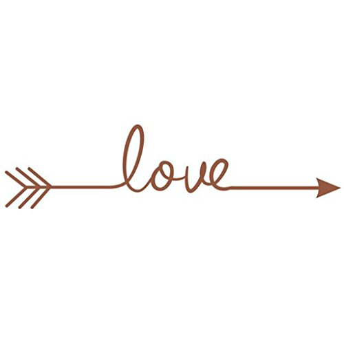 Hatop Love Arrow Decal Living Room Bedroom Vinyl Carving Wall Decal Sticker (Brown) (Brown Flower Wall Decal Stickers compare prices)