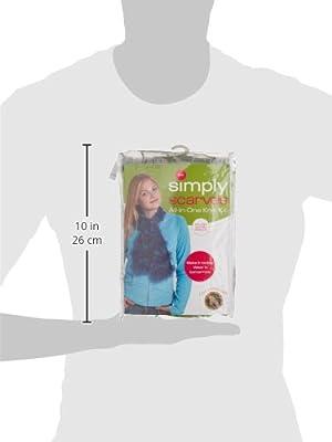 Lion Brand Yarn 600-160 Delta Blues Easy Knit Scarf Kit