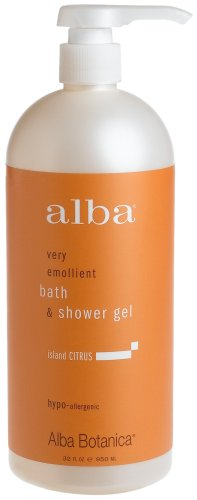 Alba Botanica Bath and Shower Gel, Island Citrus, 32-Ounce Bottle