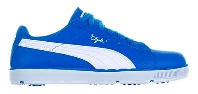 Puma 2013 Mens PG Clyde Spikeless Golf Shoes - Blue/White - UK 9