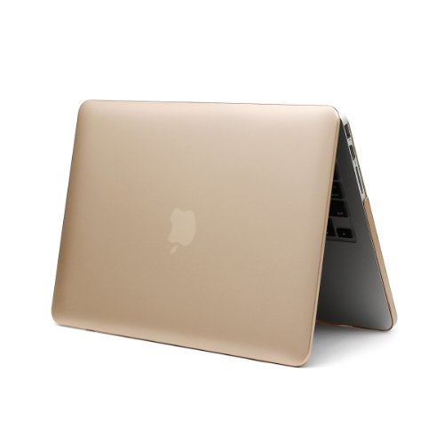 Moon Monkey 2 in 1 Frosted Matte PC Hard Snap on Case Cover Unique Champagne Color for Macbook Pro (13.3 Inch Macbook Retina)