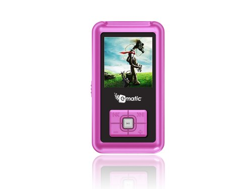 Ematic 4Gb Color Mp3 Video Player With 1.5-Inch Screen, Fm Radio And Voice Recording (Pink) front-1024448