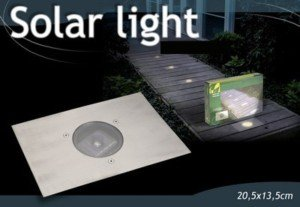 Lampe solaire spot a encastrer sans fil pour terrasse ou Eclairage jardin sans fil