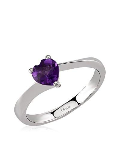 Divas Diamond Anillo Amethyst Heart Ring
