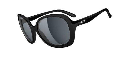 Oakley Backhand OO9178-07 Polarized Round Sunglasses,Polished Black,One size